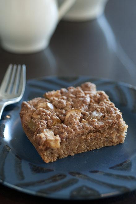 pear almond coffeecake