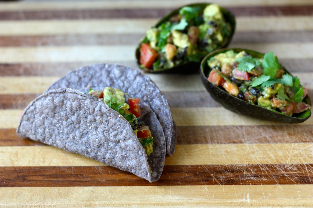 TexMex-Stuffed Avocado Tacos by The Blissful Chef