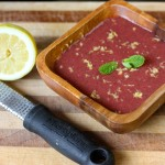 Raw Strawberry Gazpacho with Lemon and Mint