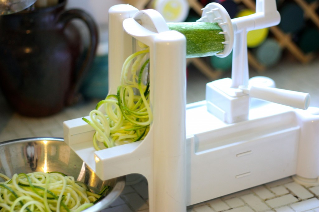 spiralizer in action