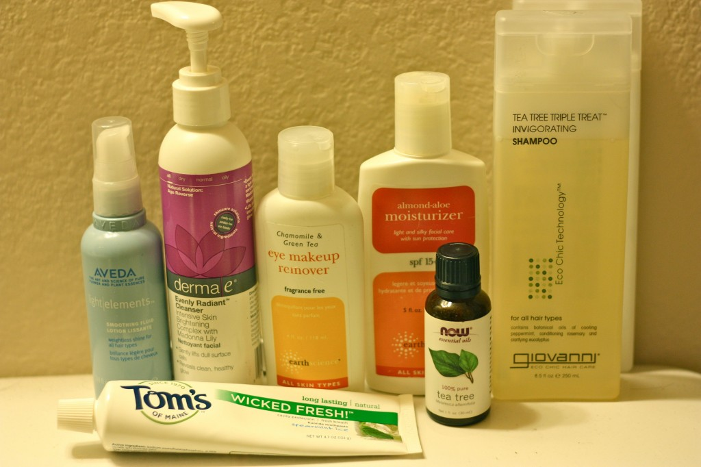 My skin and hair care products