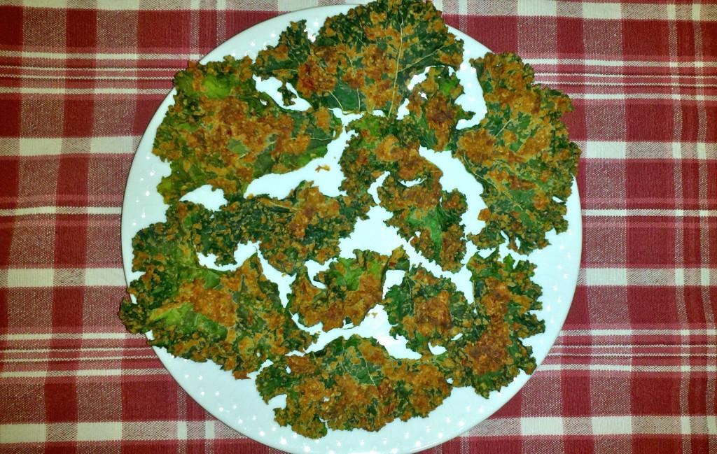 Pizza kale chips by Alyssa