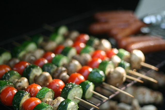 kabobs grilling