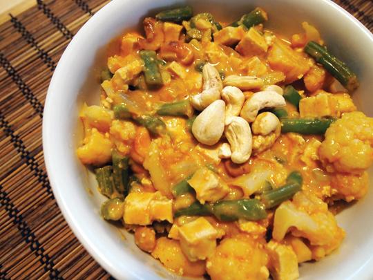cauliflower curry by Dianne