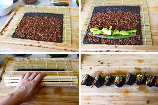 red-quinoa-sushi