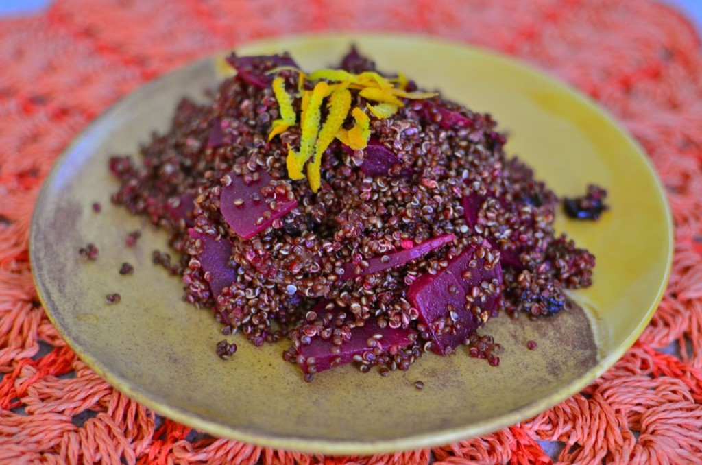 Curried Quinoa Salad with Beets & Orange