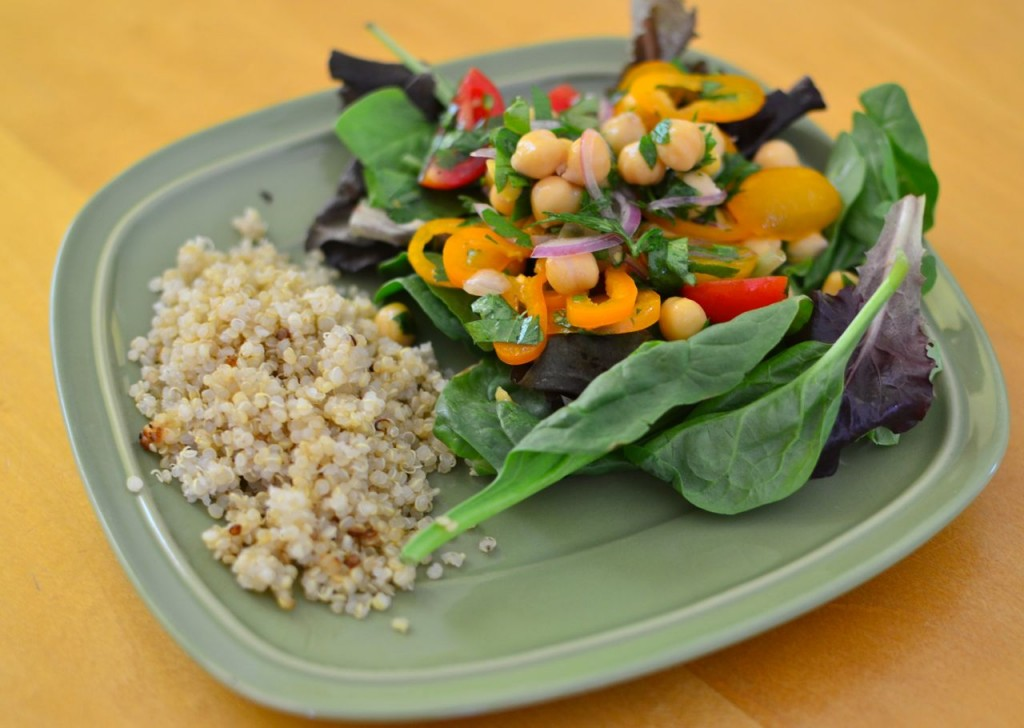 chickpea salad2 mouthwatering vegan