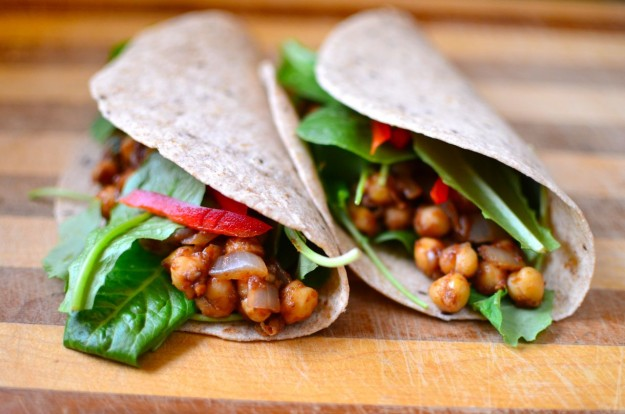 indian chickpea wraps