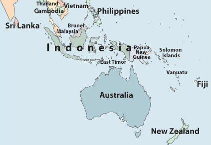 indo/australia map